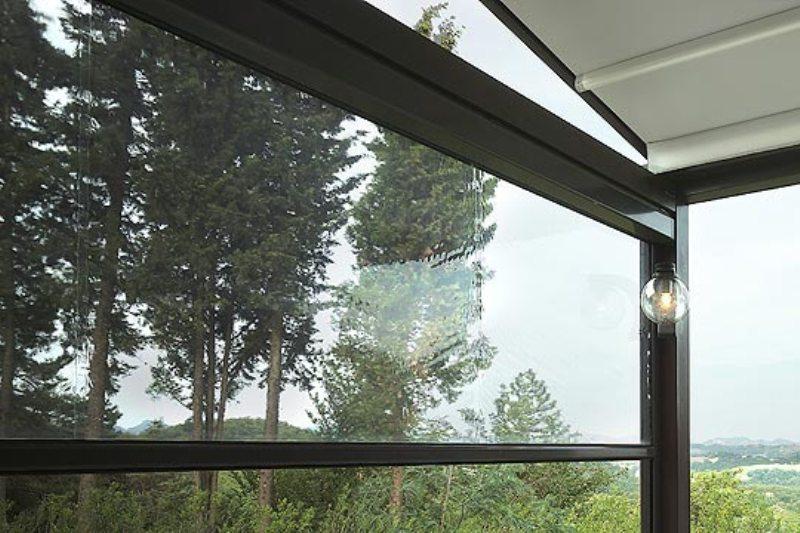 Tende Microforate Per Esterni.Tenda Esterna Trasparente Gibus Tende A Caduta In Cristal