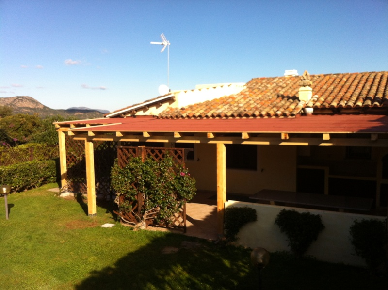 pergola con tetto in perline